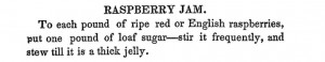 Mary Randolph's directions for reducing raspberries